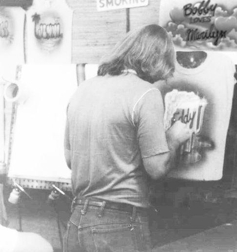 Kenny Redd airbrushing
